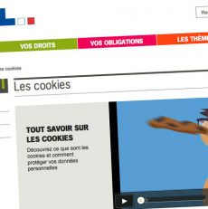 Bandeau d'alerte des cookies