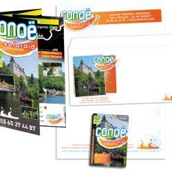de correspondance et cartes Visites Passion pour Safaraid Dordogne, loueur de canoës