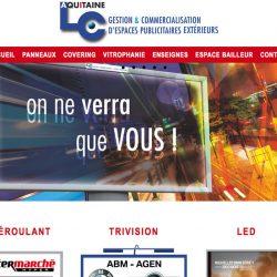 Espaces publicitaires extérieurs www.aquitainelc.com