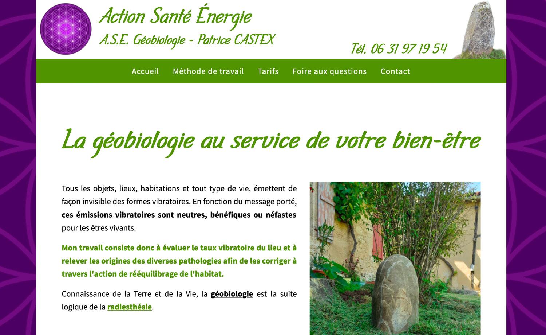 Pack site internet ASE Géobiologie
