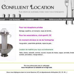 Location de matériel de réception www.confluentlocation.com