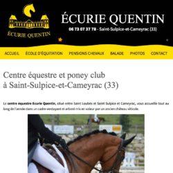 Centre équestre à St-Sulpice-et-Cameyracecuriequentin.com