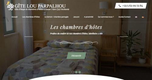 Site internet Gîte Lou Parpalhou