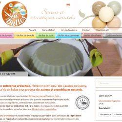 Boutique en ligne de savons et cosmétiques bio www.la-vie-en-bulles.fr
