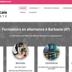 Site internet MFR de Barbaste