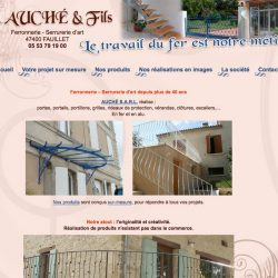 Ferronnerie - Serrurerie d'art www.auche47.fr