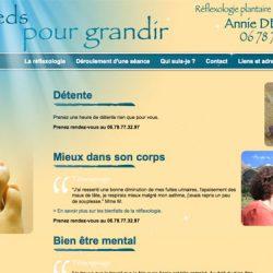 Réflexologie plantaire www.despiedspourgrandir.com