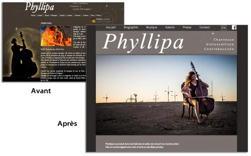 habillage graphique phyllipa