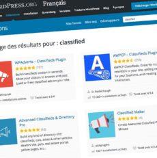 Comparatif de plugins gratuits d'annonces sur WordPress