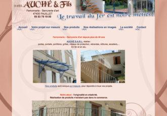 Sarl Auché & Fils, Ferronnerie - Serrurerie d'art > www.auche47.fr