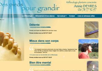 Des pieds pour grandir, Réflexologie plantaire > www.despiedspourgrandir.com