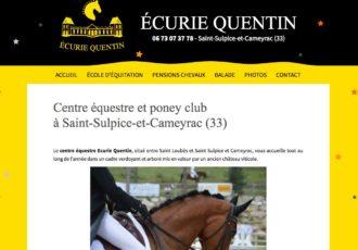 Écurie Quentin, Centre équestre à St-Sulpice-et-Cameyrac (33) > ecuriequentin.com