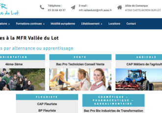 MFR Vallée du Lot, Centre de formation (47) > mfr-valleedulot.fr