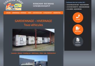 CaravanPark, Gardiennage caravanes, bateaux... dans Landes > caravanpark.fr