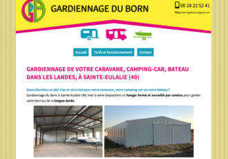 Gardiennage du Born, Gardiennage caravanes, camping-cars... à Sainte-Eulalie (40) > gardiennageduborn.fr