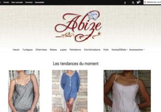 Abize, Boutique en ligne de bijous faits main > www.abize.fr