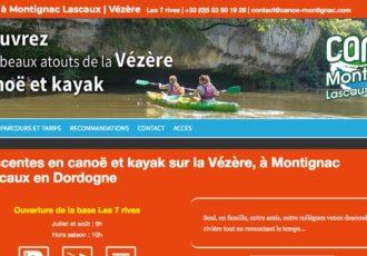 Canoë Montignac Les 7 rives (24) > Visitez le site canoe-montignac.com