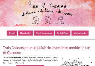 Chorale Les 3 Chœurs (47) > Visitez le site choraleles3choeurs.fr
