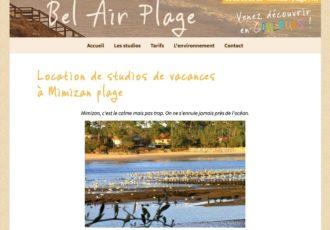 Bel Air Plage, Location de studios à Mimizan (40) > Visitez le site belairplage.com
