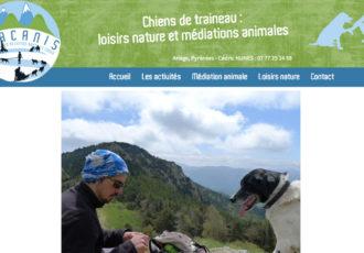 Viacanis, chiens de traîneaux, loisirs et médiation animale > Visitez le site viacanis.fr