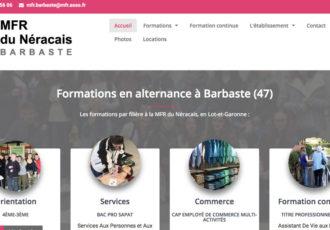 MFR de Barbaste, organisme de formation (47) > Visitez le site mfrdebarbaste.fr